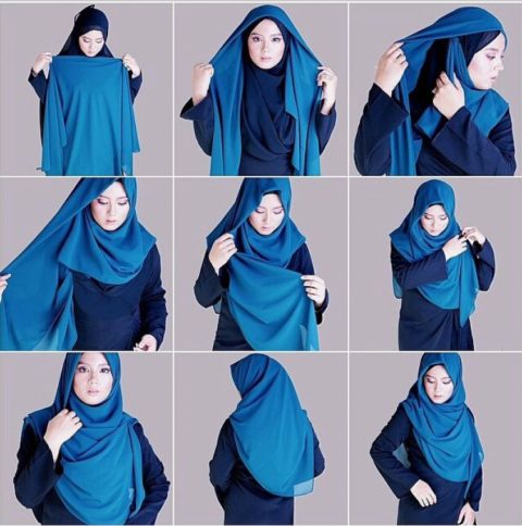 Cara-Memakai-Jilbab-Segi-Empat-Menutupi-Dada