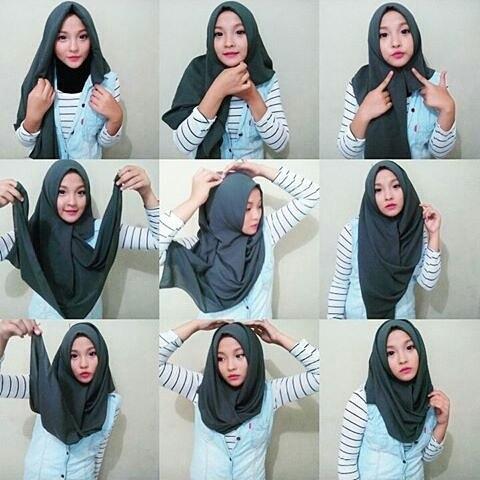 Cara-Memakai-Jilbab-Segi-Empat-ke-Kampus