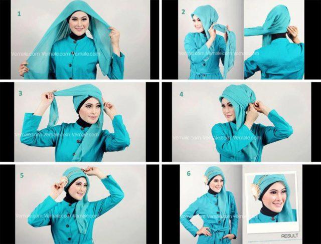 Cara-Memakai-Jilbab-Paris-Turban