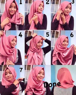 Cara Memakai Jilbab Segi tiga Untuk Sekolah
