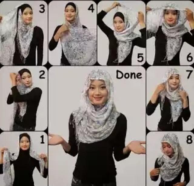 Cara Memakai Jilbab Segitiga Sederhana