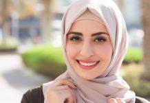 Cara memakai jilbab segi tiga polos
