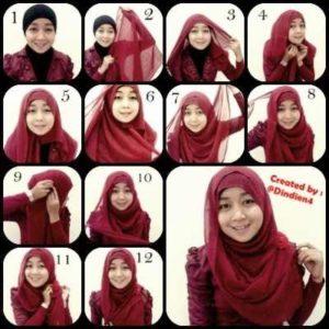 cara-memakai-jilbab-paris-segi-empat-1