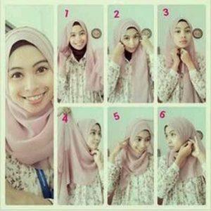 cara-memakai-jilbab-paris-segi-empat-3
