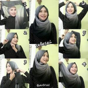 cara-memakai-jilbab-paris-segi-empat-4