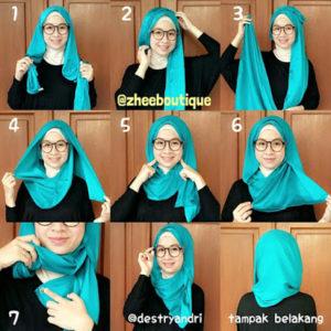 cara-memakai-jilbab-paris-segi-empat-5