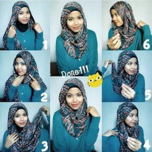cara-memakai-jilbab-paris-segi-empat-6