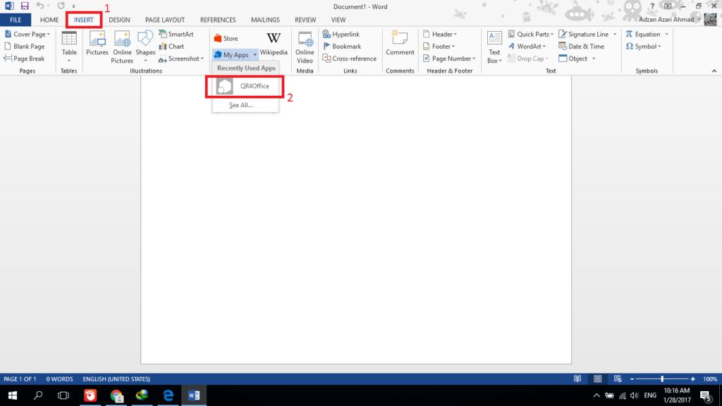 membuat qr code dengan microsoft word 1 1024x576 - Cara Membuat QR Code Yang Mudah Dengan Microsoft Word
