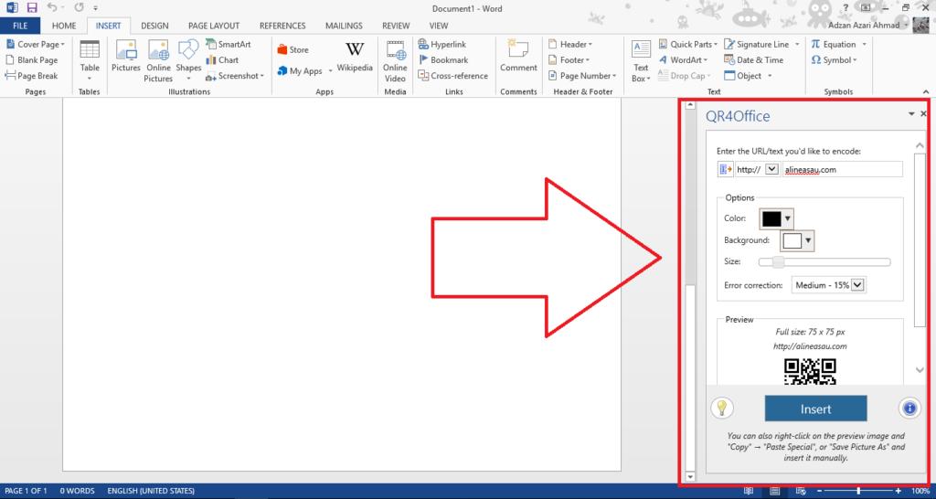 membuat qr code dengan microsoft word 2 1024x546 - Cara Membuat QR Code Yang Mudah Dengan Microsoft Word