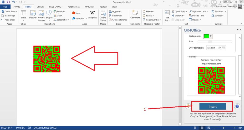 membuat qr code dengan microsoft word 4 1024x546 - Cara Membuat QR Code Yang Mudah Dengan Microsoft Word