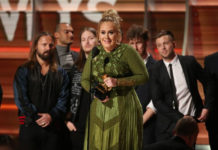 adele in grammy awards 2017