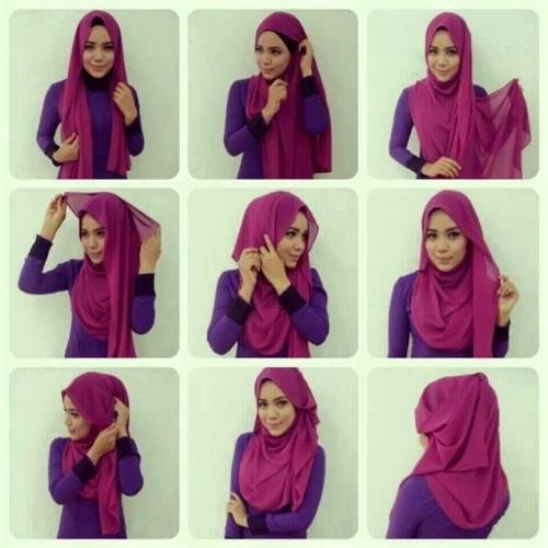 cara memakai jilbab pashmina simple dan modis
