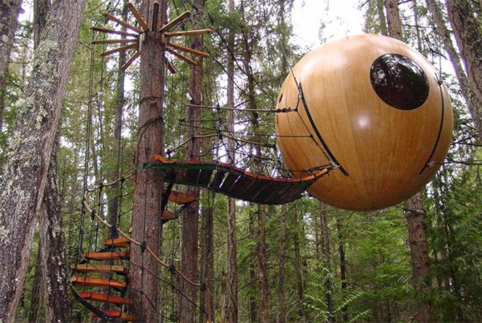 Free Spirit Sphere Treehouse, Rumah Pohon